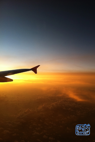 areal photo of sunset