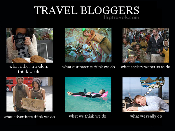 Flip N Travels What People Think We Do As Travel Bloggers